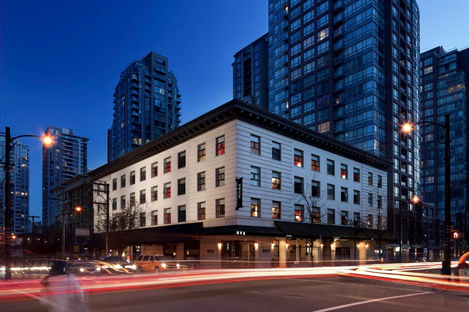 Trendy Historic Stay at Moda Hotel in Vancouver