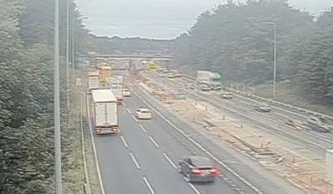 M6 crash between car and HGV causing serious traffic delays